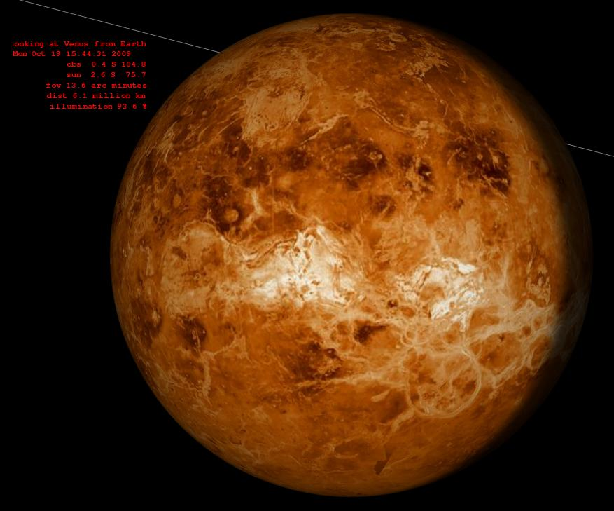 Venus from earth
